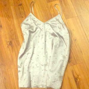 Free People silver cami mini dress